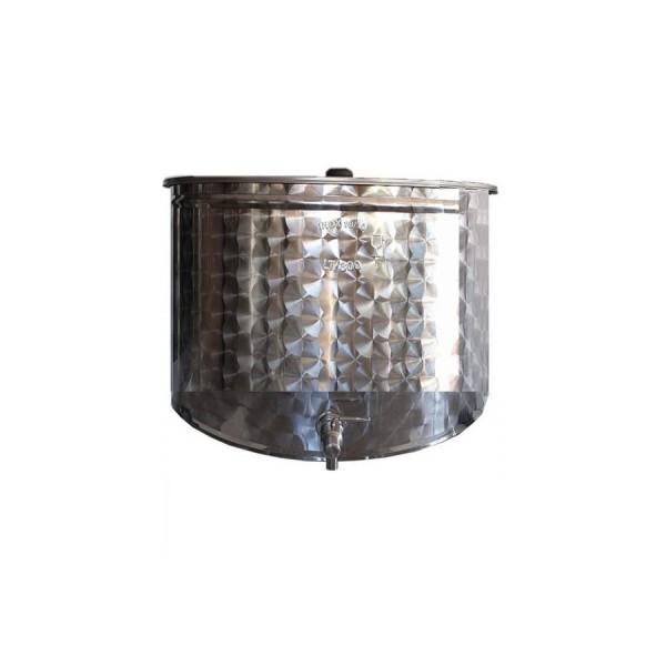 30 l Edelstahlbehälter mit Flachboden + Deckel + Kugelhahn