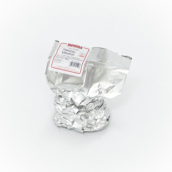 100g Hallertauer Mittelfrüh Rohhopfen zum Bierbrauen, Alfasäurengehalt 4,4%
