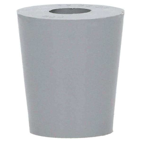Gummistopfen grau D22/17 + 9 mm Loch
