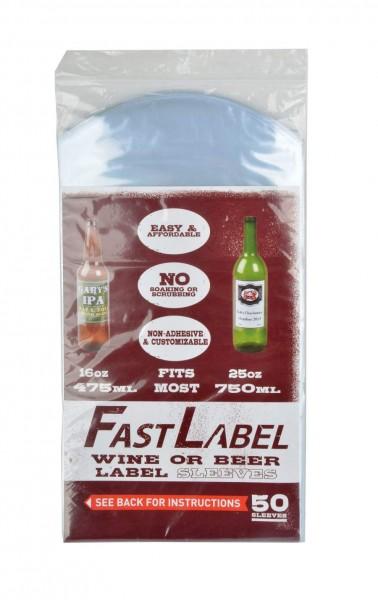 """50 """"FastLabel"""" Folien-Etiketten für Flaschen 0,5-0,75 l"""