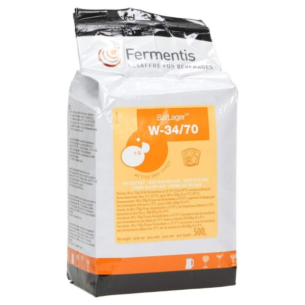 Fermentis trocken Bierhefe SafLager W-34/70 500 g