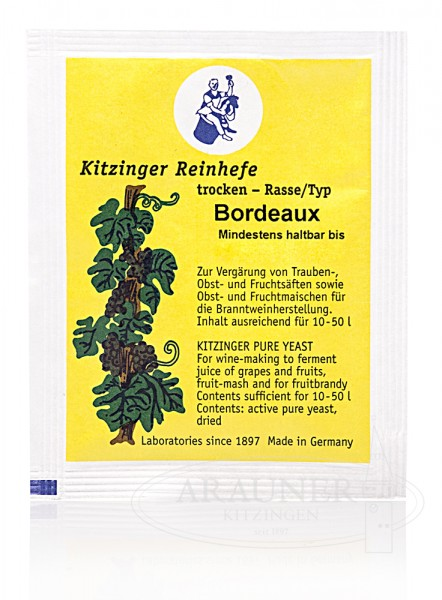 """TROCKENHEFE / Weinhefe 5 g """"BORDEAUX"""" trocken"""