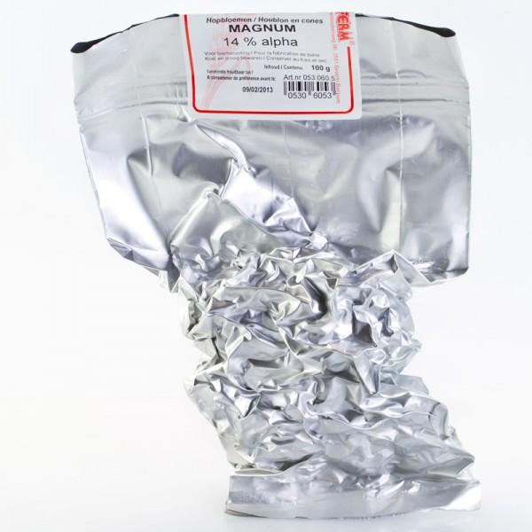 100g Magnum Rohhopfen zum Bierbrauen, Alfasäurengehalt 11,9%