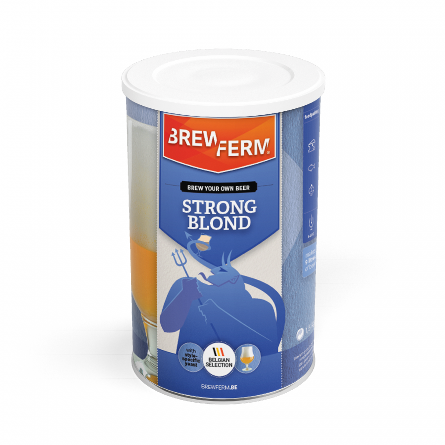 Brewferm 21,21kg Diabolo/ Strong Blond Bierkit aus original Belgischem  Rezepten